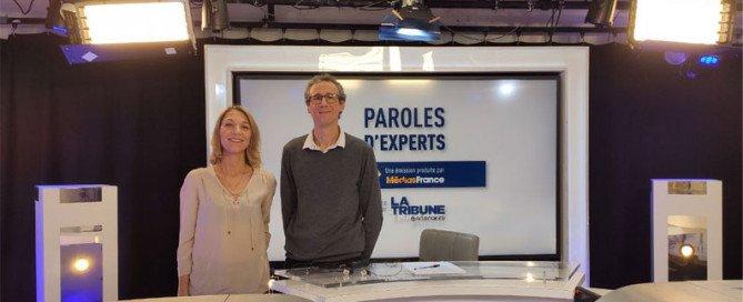 Jérôme Sevrin et Christine Frilay lors de la participation de Teractys à l'émission Paroles d'Experts diffusée sur latribune.fr
